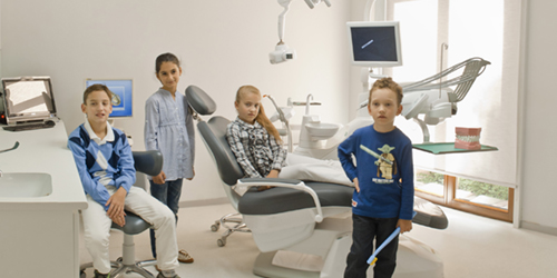 "Pedodontics is a part of dentistry that deals with the prevention and treatment of children teeth and oral cavity. We're treating children by playing! The clinic has all the safe methods for anti-stress treatment, including ""laughing gas"" (N2O) sedation. Small patients will be satisfied!"